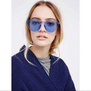 FREE PEOPLE Blue Spectrum Frameless Sunglasses